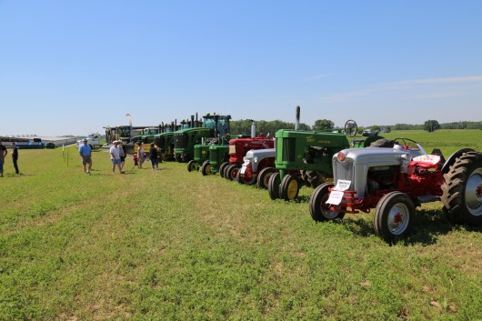 Tractor-time at the 2016 Breakfast