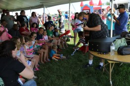 Musical fun in the Kids Tent at the 2016 Breakfast