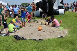 Kids had a great time playing in the sand and in the bouncy house at the 2016 Breakfast! #LoveBOTF