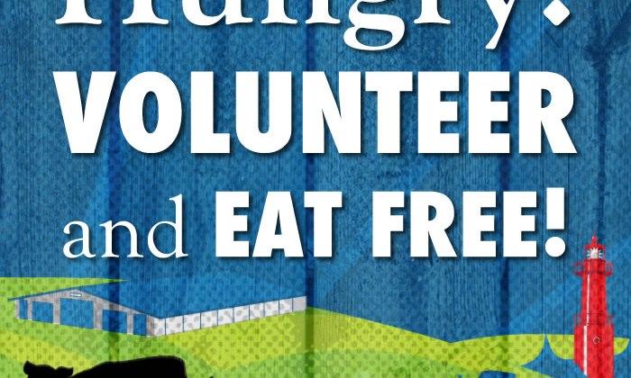 Volunteers Eat Free – 2016 WE WANT YOU!