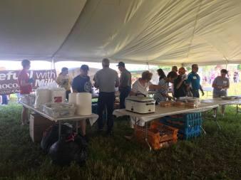 Great work volunteers! 2017 Kewaunee County Breakfast on the Farm