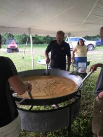 Our eggs are tasty - filled with ham, mushrooms and CHEESE! 2017 Kewaunee County Breakfast on the Farm