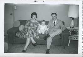 Cousin Karen Havel (Koss) with Peggy and her big brother Jim Junion (5th generation Junion Homestead Farm)