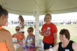 Volunteer check-in tent always runs smoothly thanks to the dedication of our Dairy Promotion Committee Secretary, Ann Niles.