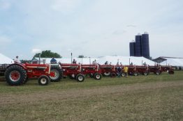 Isn't this a beautiful sight?! Thank you to the owners of these tractors for donating their use.