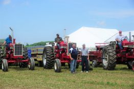 Tony Knorn and Henry Ebert share their love for these tractors.