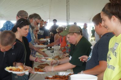 Thanks to everyone who volunteered by putting food on our plates!
