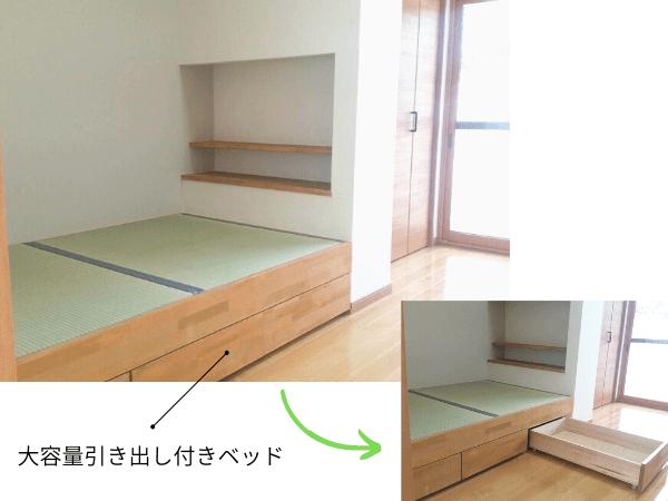 大進建設のブログ用写真、大分市リフォーム畳ベッド