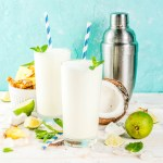 Creamy pineapple and coconut drink