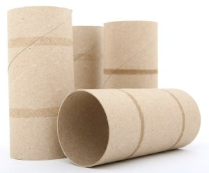 Empty toilet paper rolls for garden tips and tricks reycling projects.