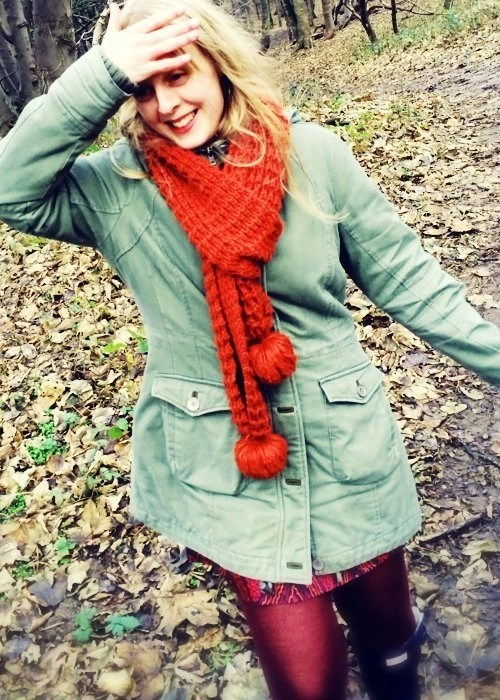 Formby pine woods, winter fashion, fat face dress, fat face coat