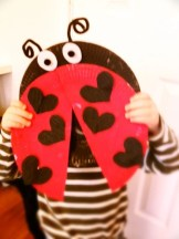 ladybird art for valentines day, valentines craft for kids, how to make a ladybird picture