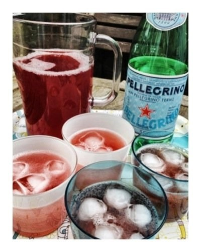 Strawberry and lavender cordial