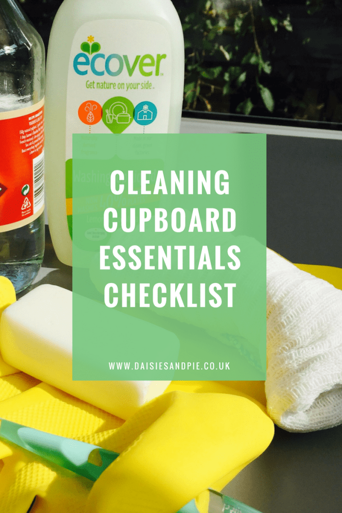 Cleaning cupboard essentials checklist, cleaning tips