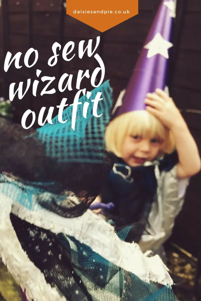 No sew wizard outfit for Halloween