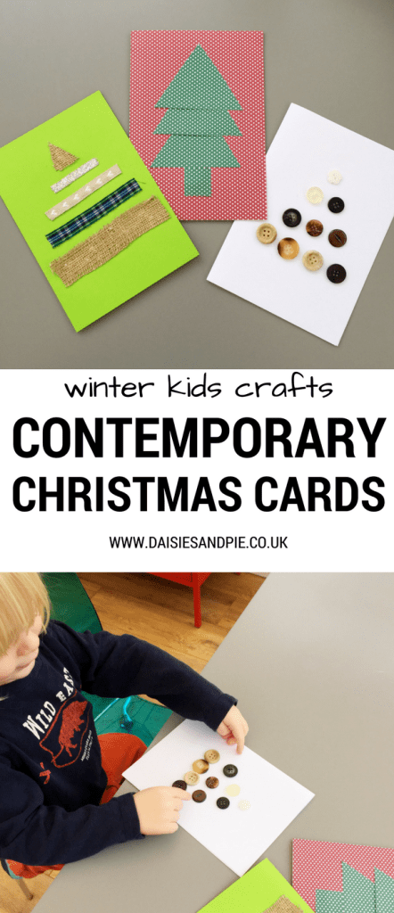 Contemporary Christmas card craft for kids