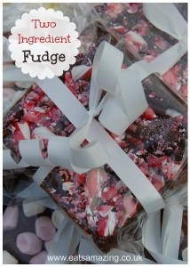 2 ingredient fudge, homemade edible christmas gifts