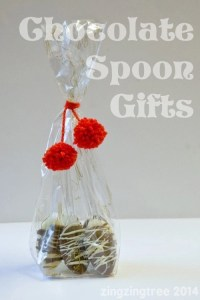 homemade chocolate spoons, edible christmas gifts