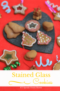 stained glass window cookies, edible christmas gifts
