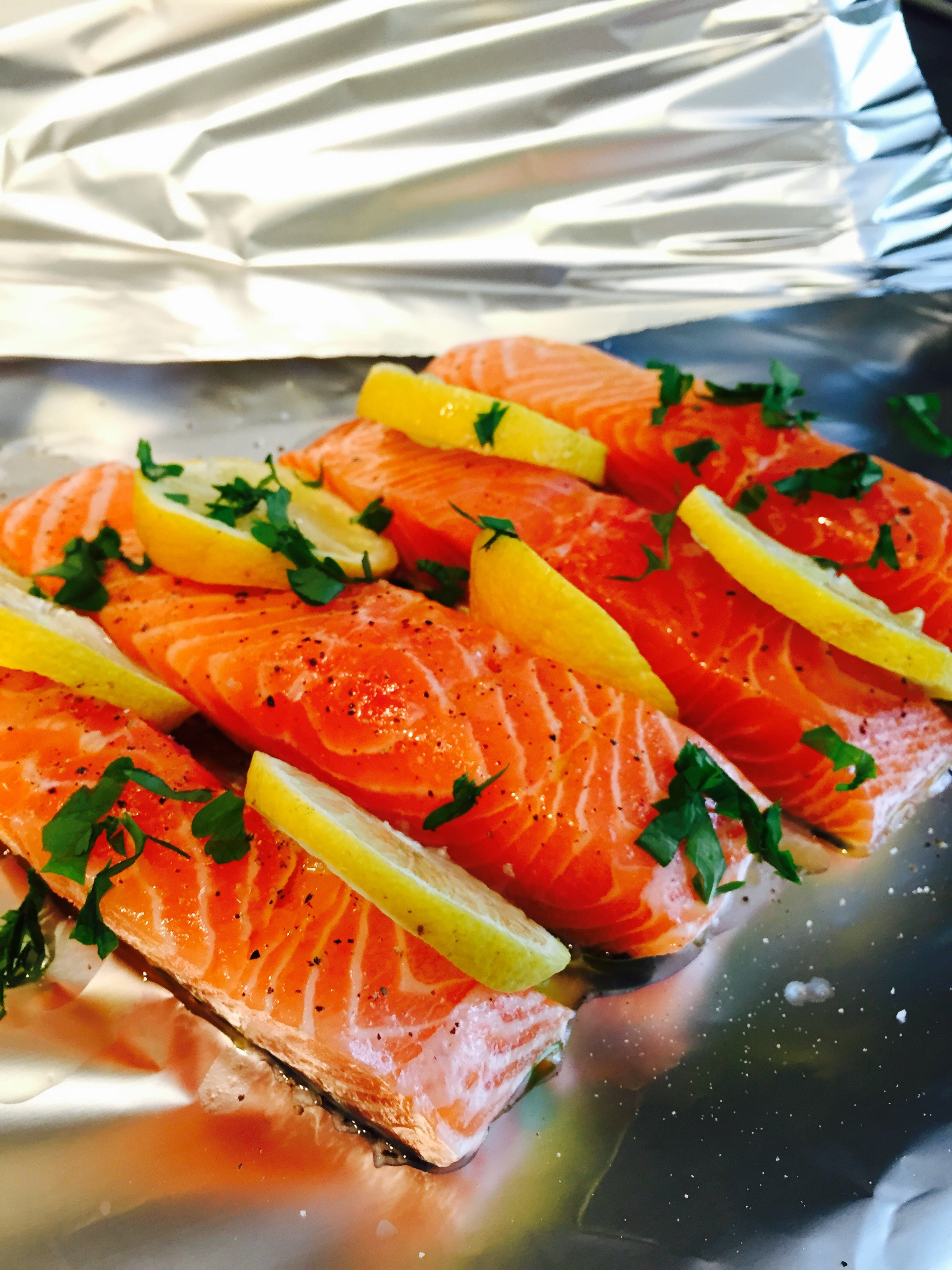 Salmon In Tin Foil Parcel, Salmon Parcel, How To Cook Salmon In The Oven
