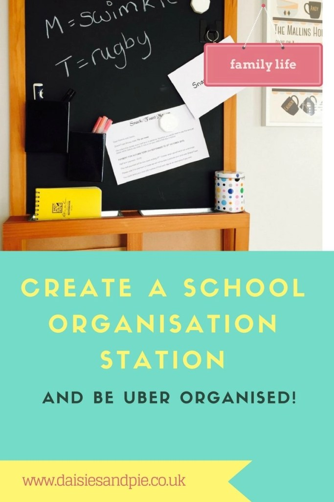 create a school organisation station and be uber organised, family life organisation, organisation for kids