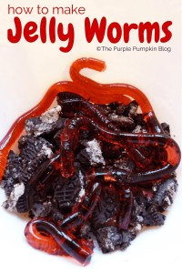 how to make jelly woms, halloween party food, halloween food for kids