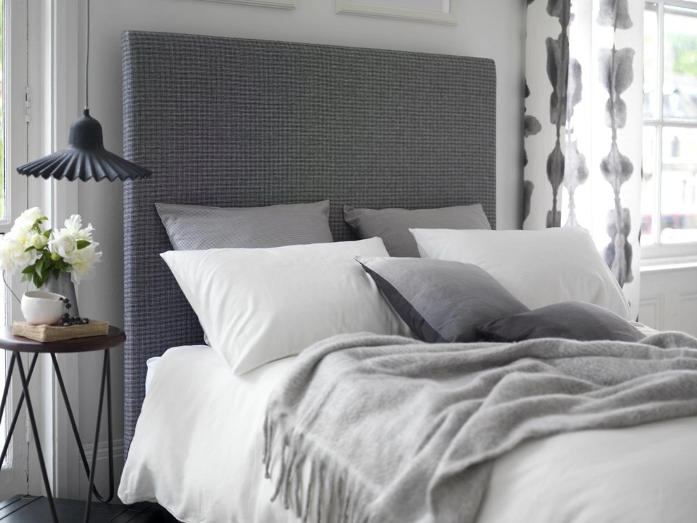 grey upholstered bed, grey bedroom design, designing a relaxing bedroom, homestyle from daisies and pie