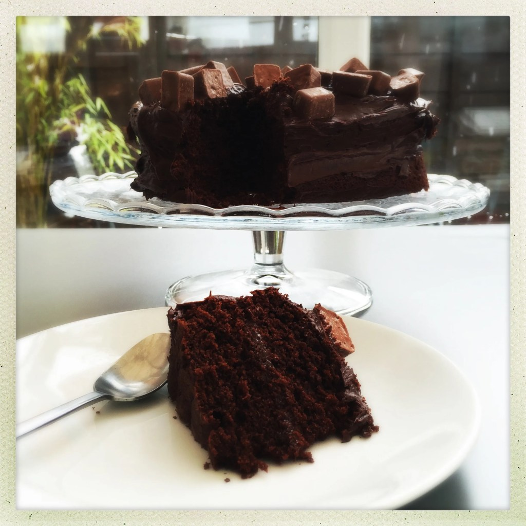 cheat's chocolate cake recipe, easy chocolate cake recipe, betty crocker chocolate fudge icing, easy cake recipe, easy family food from daisies and pie