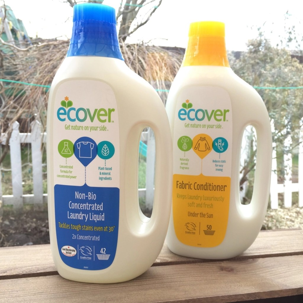 ecover laundry liquid review, ecover review, laundry tips, laundry hacks, homemaking UK