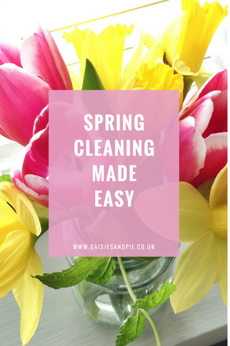 Spring Cleaning Made Easy Daisies Pie
