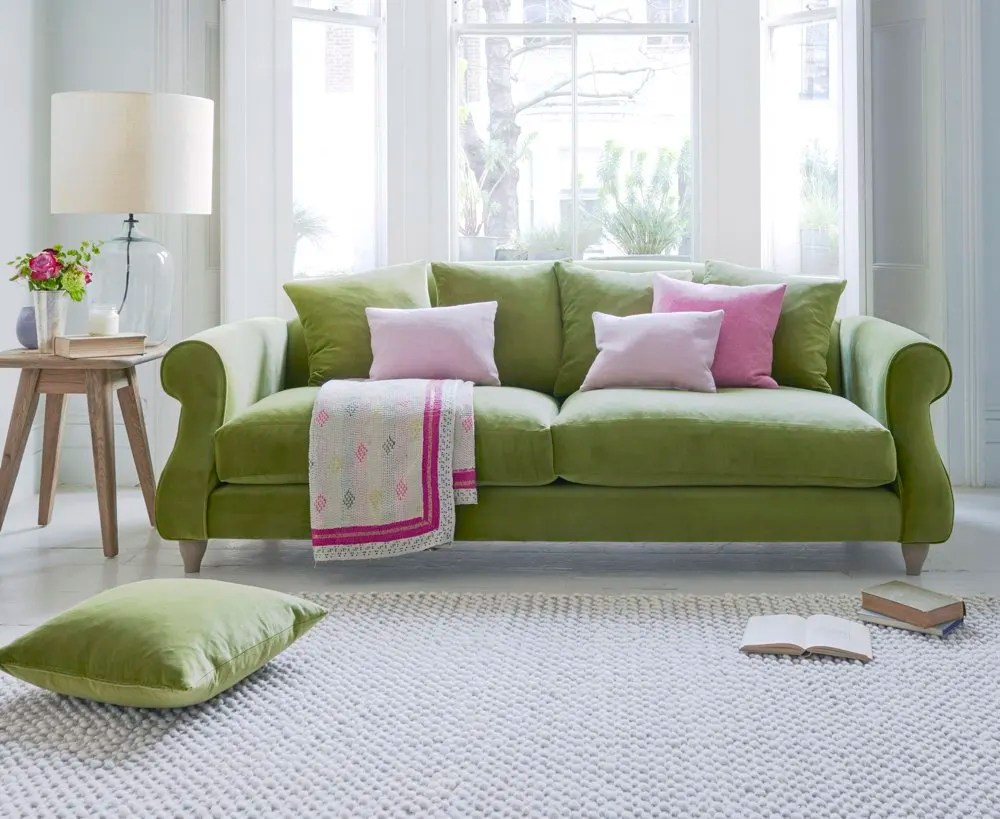 loaf sloucher sofa in luscious green, green sofa, loaf sofa, update home for spring, home style from daisies and pie