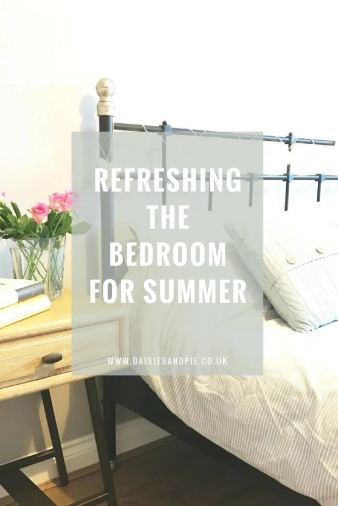 Refreshing the bedroom for summer