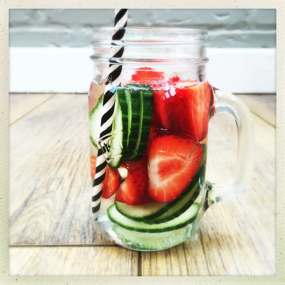 strawberry infused water recipe, strawberry and cucumber infused water, fruit water infusion ideas,