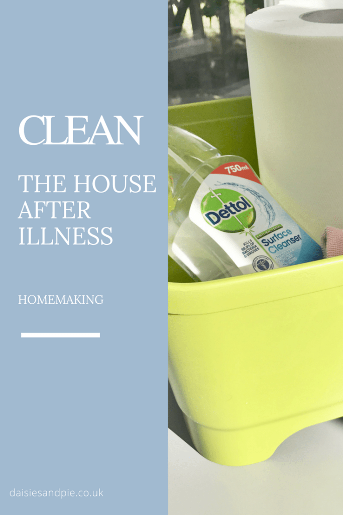cleaning up after illness, how to clean after the kids have been sick, removing sick smell from carpet, homekeeping from daisies and pie
