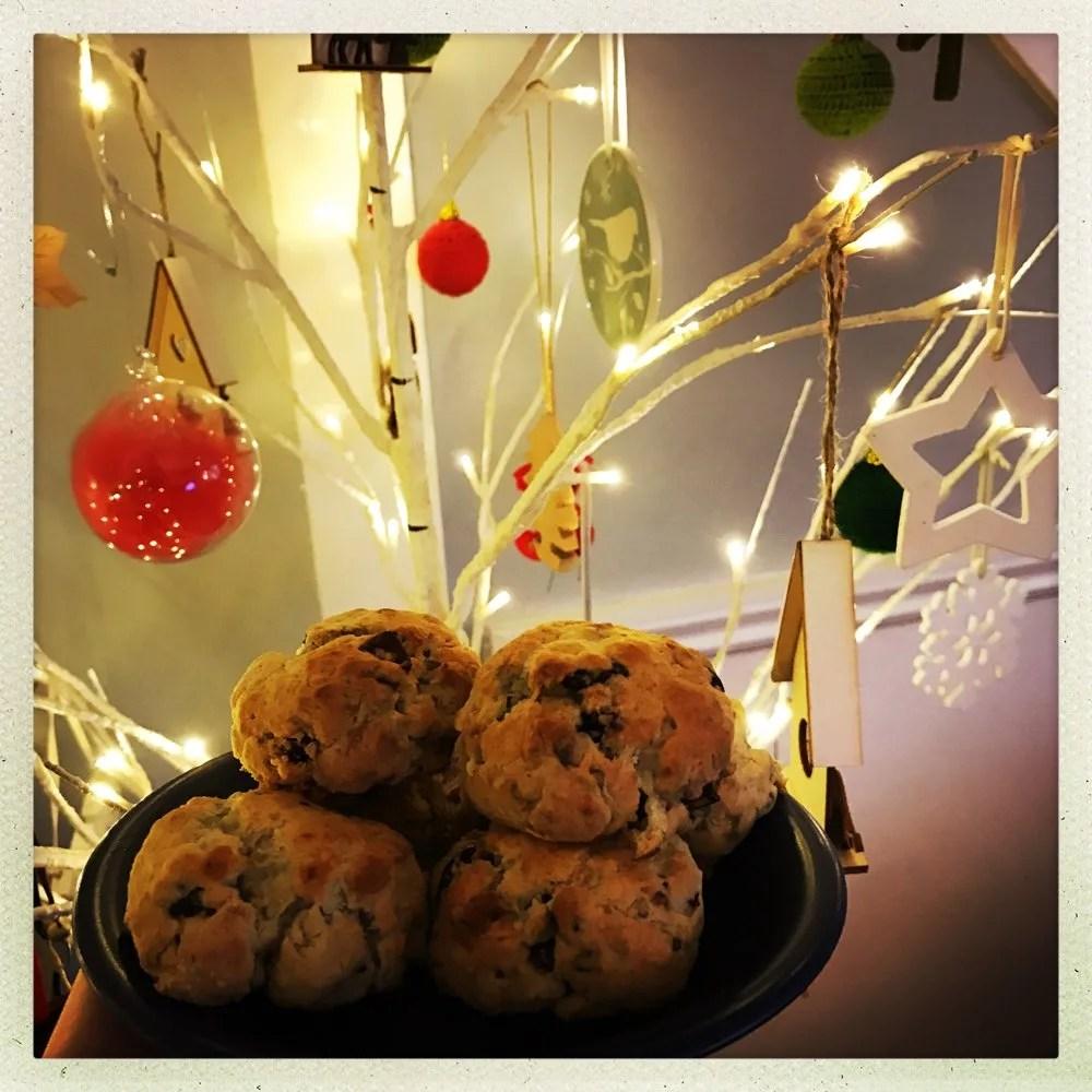 Cranberry and Stilton scones