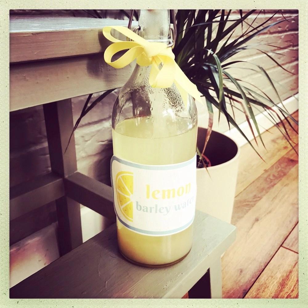 Homemade lemon barley water
