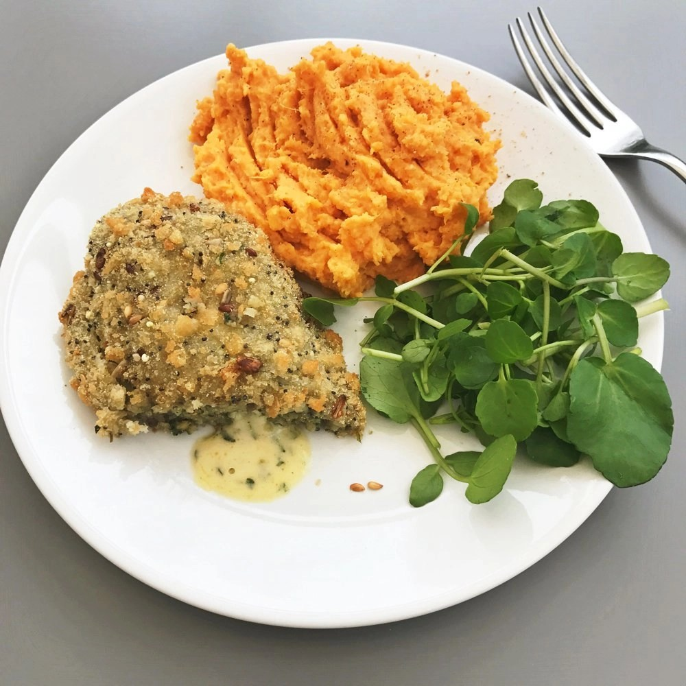 Vegetarian Dinner Recipes, Spinach and Mushroom Kiev, Easy family food from daisies and pie