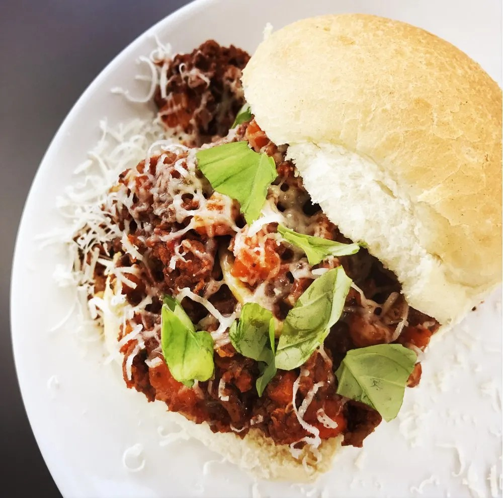 Bolognese sloppy joes