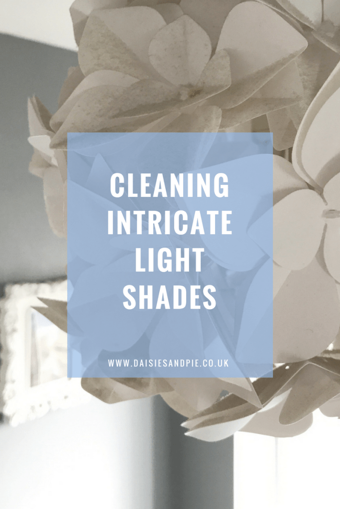 Cleaning intricate light shades