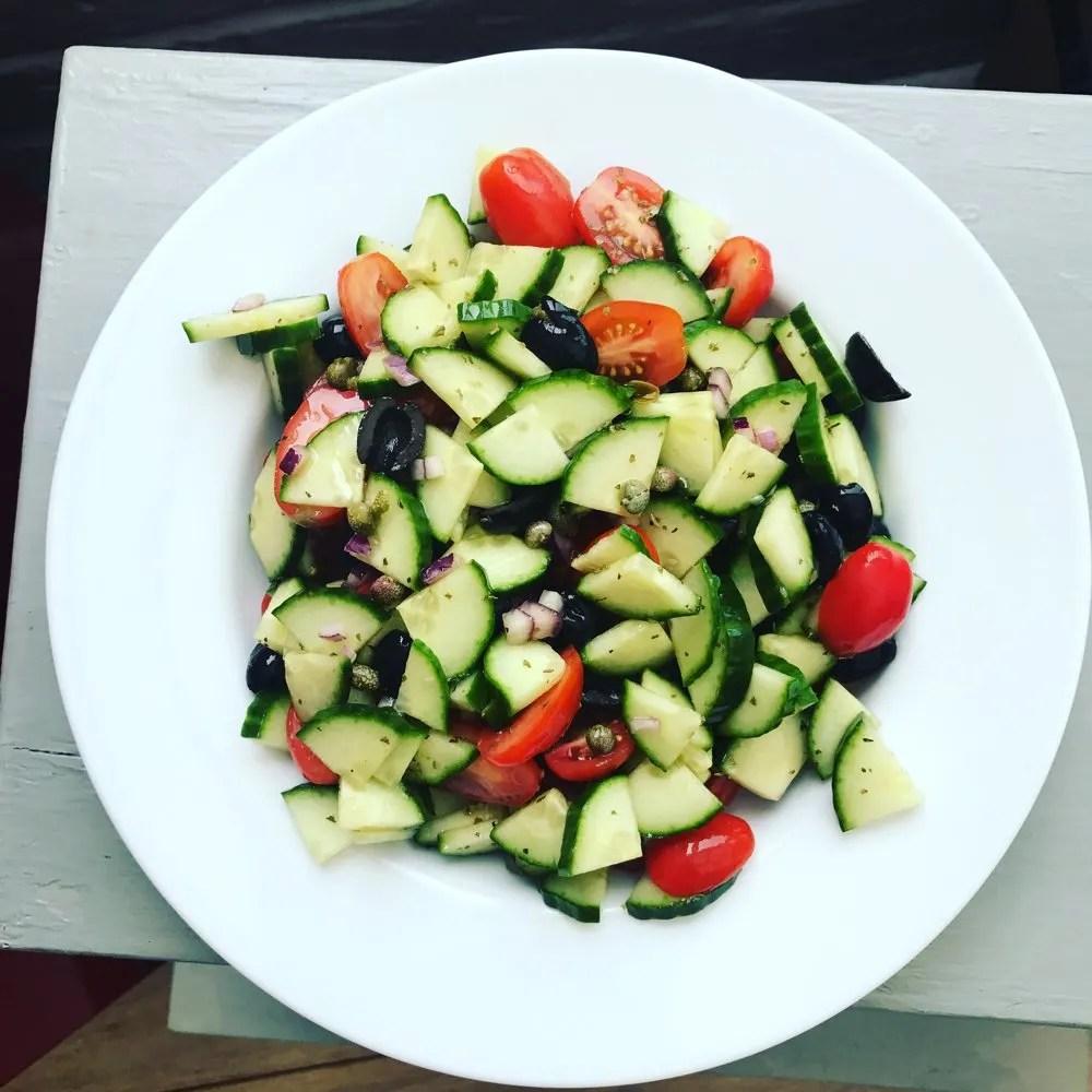 Cucumber side salad, summer salad recipes, healthy family food