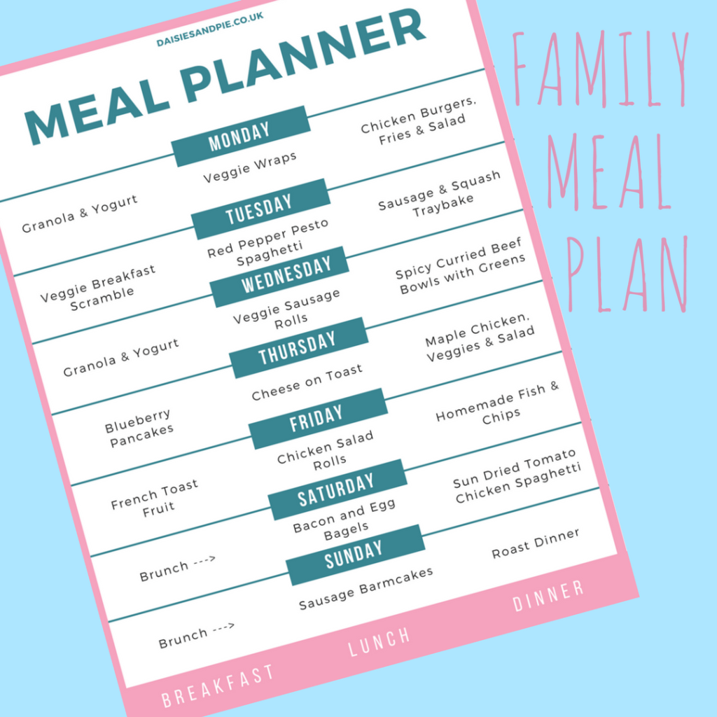 Weekly family meal plan, meal planning tips, summer meal plan, easy family food
