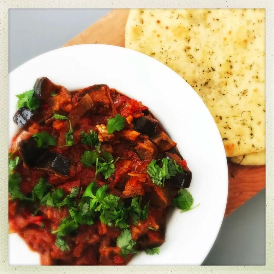 Quick Tomato and Aubergine Stew
