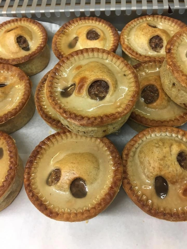 Freshly made pies at All You Knead at Haigh Kitchen Courtyard, Haigh Woodland Park, Haigh Hall Wigan, Foodie Destinations, North West, Artisan Food Producers Manchester, Artisan Food Producers Lancashire, Artisan Bread