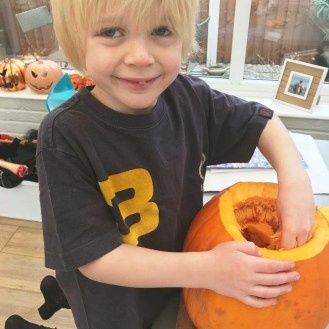 Pumpkin carving with kids, Halloween crafts for kids