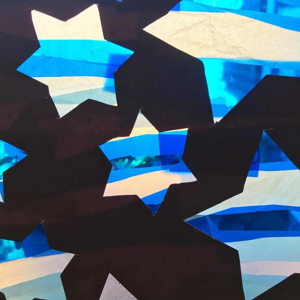 Frosty star stained glass windows