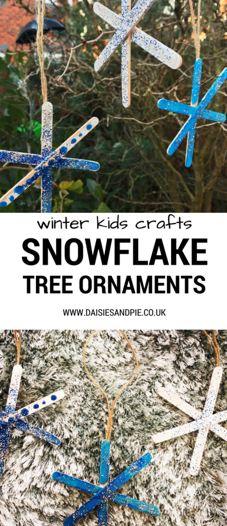 How to make snowflake ornaments, kids Christmas craft ideas