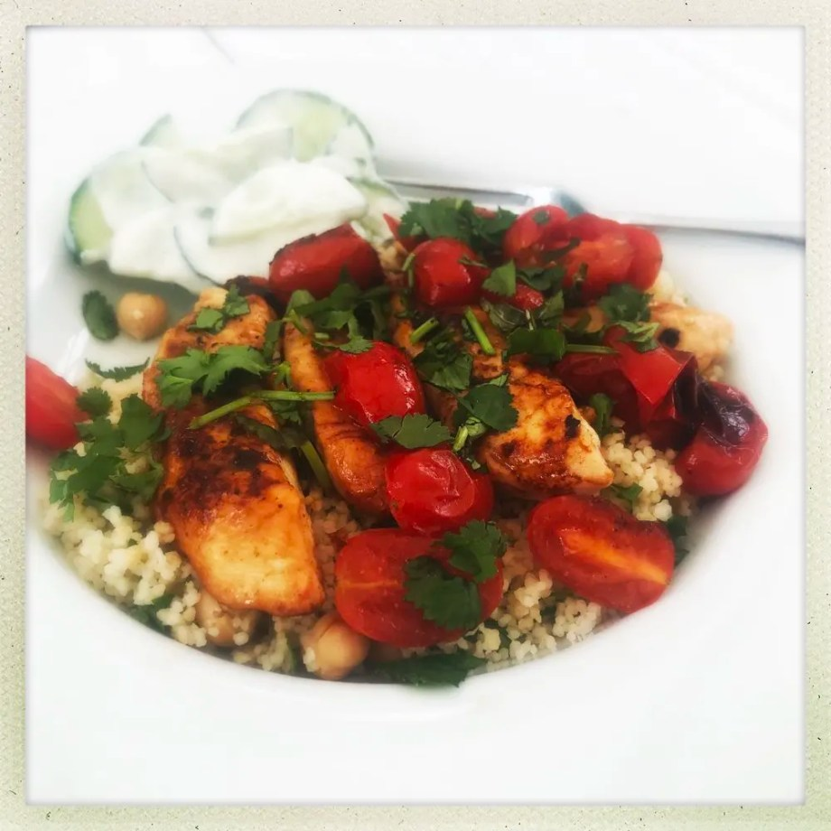 Sticky Moroccan Chicken with Herby Couscous