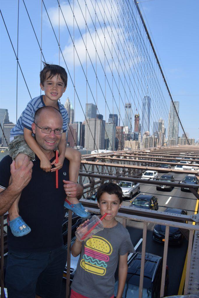Walking the Brooklyn Bridge with Kids