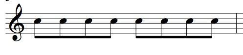 8分音符表