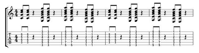 音符の長さ参考楽譜